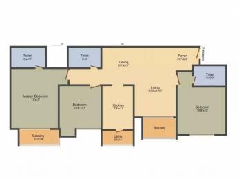 1786 sqft, 3 bhk Apartment in Ozone Greens Medavakkam, Chennai at Rs. 30000