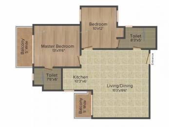 1125 sqft, 2 bhk Apartment in Emaar Palm Studios Sector 66, Gurgaon at Rs. 35000