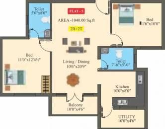 1040 sqft, 2 bhk Apartment in Saffron Bougain Apartment Mettupalayam, Coimbatore at Rs. 14000