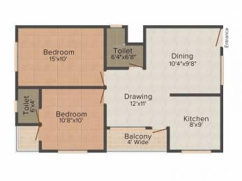 1190 sqft, 2 bhk Apartment in Suyash Utsav Aangan Super Corridor, Indore at Rs. 10000