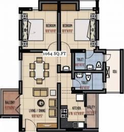 1064 sqft, 2 bhk Apartment in Green Vistas Prakrriti Kakkanad, Kochi at Rs. 60.0000 Lacs