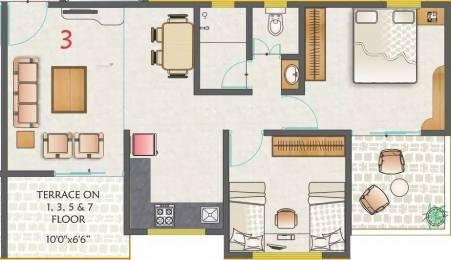 851 sqft, 2 bhk Apartment in Kohinoor Nano Homes Ravet, Pune at Rs. 13500