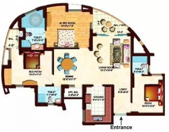 1655 sqft, 3 bhk Apartment in Eldeco Olympia Sector 93A, Noida at Rs. 95.0000 Lacs