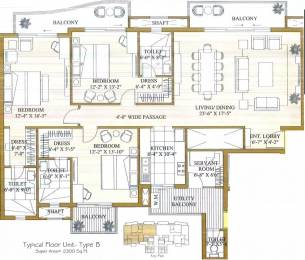 2300 sqft, 3 bhk Apartment in ATS Pristine Sector 150, Noida at Rs. 25000