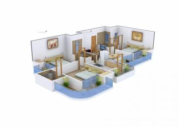1560 sqft, 3 bhk Apartment in Exotica Fresco Sector 137, Noida at Rs. 28000