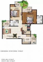 1195 sqft, 2 bhk Apartment in Ajnara Grand Heritage Sector 74, Noida at Rs. 61.5000 Lacs