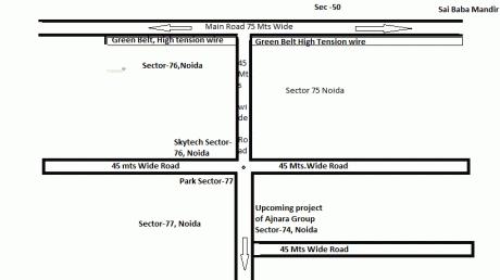 1395 sqft, 3 bhk Apartment in Ajnara Grand Heritage Sector 74, Noida at Rs. 70.0000 Lacs