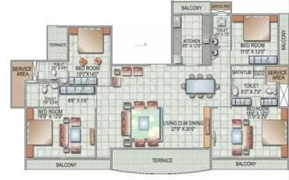 3300 sqft, 4 bhk Apartment in Siddhi Grandeur Kharghar, Mumbai at Rs. 4.0000 Cr