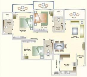 1280 sqft, 3 bhk Apartment in DB Orchid Suburbia Kandivali West, Mumbai at Rs. 45000
