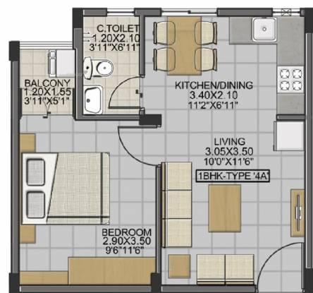 522 sqft, 1 bhk Apartment in Isha Anandham Perungalathur, Chennai at Rs. 18.7900 Lacs