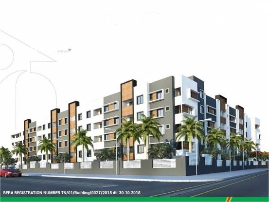 700 sqft, 2 bhk Apartment in Isha Anandham Perungalathur, Chennai at Rs. 25.1950 Lacs