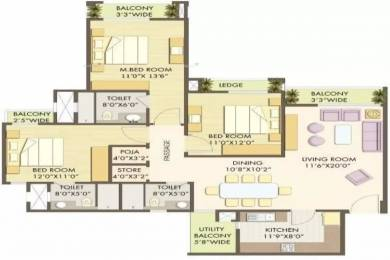1920 sqft, 3 bhk Apartment in Godrej Anandam Ganeshpeth, Nagpur at Rs. 1.3000 Cr