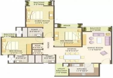 1920 sqft, 3 bhk Apartment in Godrej Anandam Ganeshpeth, Nagpur at Rs. 28000
