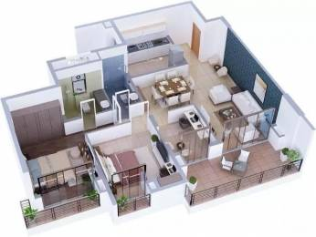 1575 sqft, 2 bhk Apartment in Tata Capitol Heights Rambagh, Nagpur at Rs. 32000