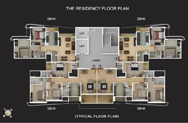 1350 sqft, 3 bhk Apartment in Vijay Vijay Residency Thane West, Mumbai at Rs. 1.3200 Cr