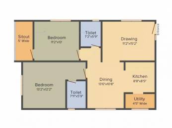 1314 sqft, 2 bhk Apartment in My Home Avatar Manikonda, Hyderabad at Rs. 30000