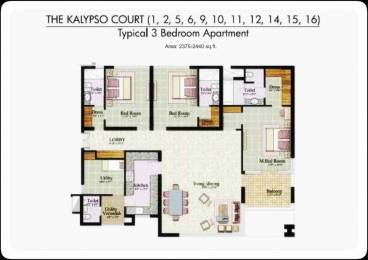 2650 sqft, 3 bhk Apartment in Jaypee The Kalypso Court Sector 128, Noida at Rs. 1.7500 Cr