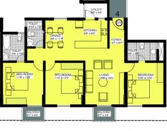 1396 sqft, 3 bhk Apartment in Alpine Viva KR Puram, Bangalore at Rs. 70.0000 Lacs