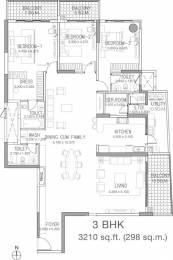 3210 sqft, 3 bhk Apartment in Godrej Platinum Hebbal, Bangalore at Rs. 1.2500 Lacs