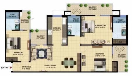 1730 sqft, 3 bhk Apartment in Paramount Golfforeste Premium Apartments Zeta 1, Greater Noida at Rs. 15000
