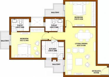 1240 sqft, 2 bhk Apartment in ATS Dolce Zeta, Greater Noida at Rs. 12500