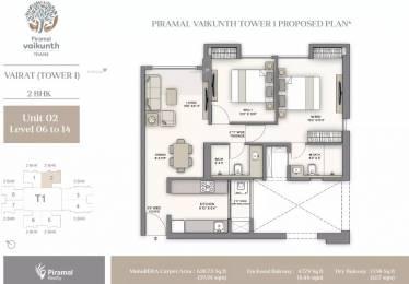 830 sqft, 2 bhk Apartment in Piramal Vaikunth Cluster 2 Thane West, Mumbai at Rs. 1.1300 Cr