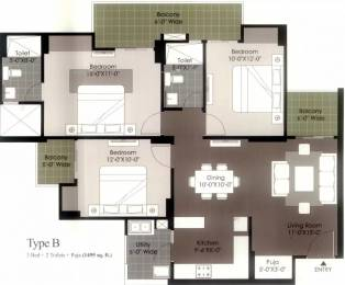 1495 sqft, 3 bhk Apartment in Gulshan Ikebana Sector 143, Noida at Rs. 77.0000 Lacs
