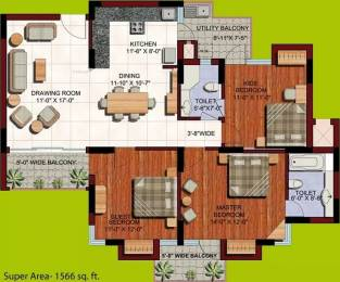 1566 sqft, 3 bhk Apartment in ABA Orange County Ahinsa Khand 1, Ghaziabad at Rs. 97.0000 Lacs