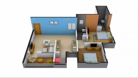 970 sqft, 2 bhk Apartment in The Verve Residency Wakad, Pune at Rs. 22000