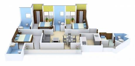 1450 sqft, 3 bhk Apartment in Imperia Mirage Homes Sector 25 Yamuna Express Way, Noida at Rs. 55.0000 Lacs
