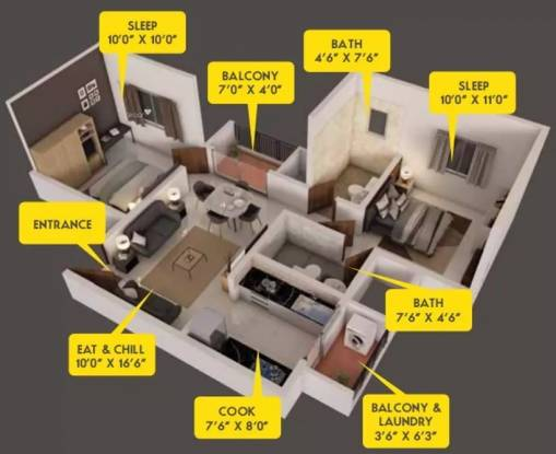 880 sqft, 2 bhk Apartment in Provident Capella 1 Whitefield Hope Farm Junction, Bangalore at Rs. 44.9900 Lacs