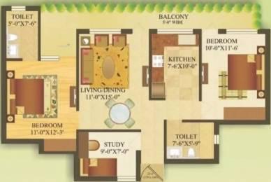 1265 sqft, 2 bhk Apartment in Gardenia Gateway Sector 75, Noida at Rs. 12000