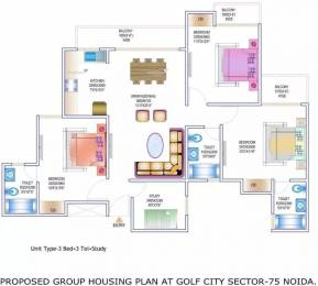 1550 sqft, 3 bhk Apartment in Gardenia Golf City Sector 75, Noida at Rs. 16000