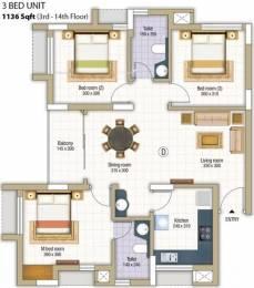 1136 sqft, 3 bhk Apartment in Skyline Petal Pottammal, Kozhikode at Rs. 68.0000 Lacs