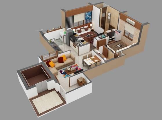 1005 sqft, 2 bhk Apartment in Aastha Green Valley Maninagar, Ahmedabad at Rs. 56.0000 Lacs