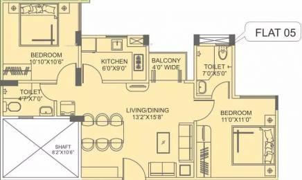 862 sqft, 2 bhk Apartment in Siddha Aangan Bagru, Jaipur at Rs. 18.5100 Lacs