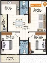 1255 sqft, 2 bhk Apartment in Purvi Symphony Varthur, Bangalore at Rs. 65.0265 Lacs
