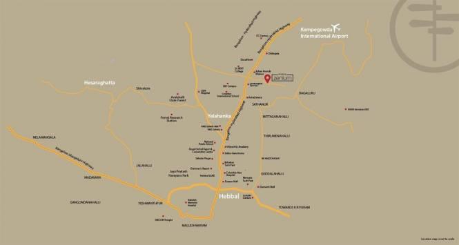 1500 sqft, 3 bhk Apartment in Builder Purvankara Purva Zenium Yelahanka, Bangalore at Rs. 80.0000 Lacs