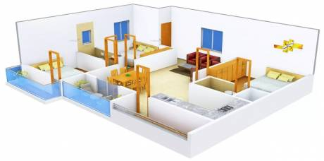 1646 sqft, 3 bhk Apartment in DS DSMAX SOLITAIRE Horamavu, Bangalore at Rs. 95.0000 Lacs