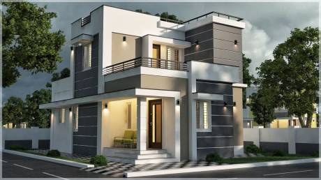 1100 sqft, 3 bhk Villa in Chathamkulam Temple Park Chandranagar, Palakkad at Rs. 35.0000 Lacs