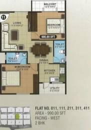 990 sqft, 2 bhk Apartment in SLN Greens Sarjapur, Bangalore at Rs. 38.6100 Lacs