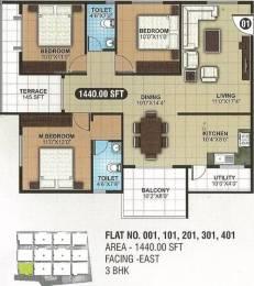 1440 sqft, 3 bhk Apartment in SLN Greens Sarjapur, Bangalore at Rs. 56.1600 Lacs