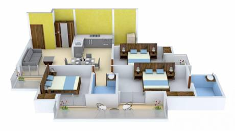 1495 sqft, 3 bhk Apartment in Gulshan Ikebana Sector 143, Noida at Rs. 75.0000 Lacs