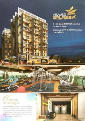 700 sqft, 1 bhk Apartment in Gurukrupa Aramus Galassia Ulwe, Mumbai at Rs. 50.0000 Lacs