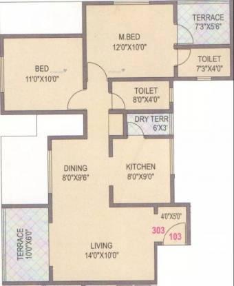 987 sqft, 2 bhk Apartment in SGL Vishwajeet Residency Kharadi, Pune at Rs. 26000