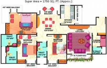 1750 sqft, 3 bhk Apartment in Mahagun Maestro Sector 50, Noida at Rs. 35000