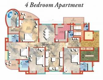 3161 sqft, 4 bhk Apartment in Pearls Gateway Towers Sector 44, Noida at Rs. 60000