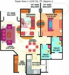 1220 sqft, 2 bhk Apartment in Mahagun Maestro Sector 50, Noida at Rs. 72.0000 Lacs