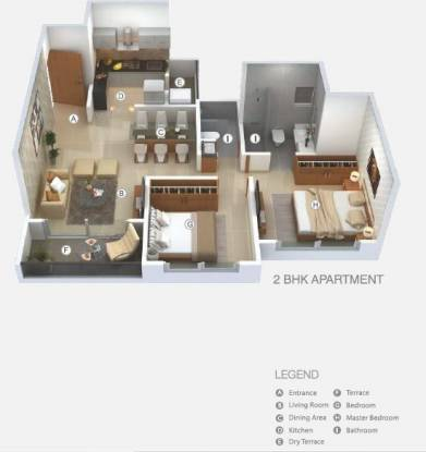 947 sqft, 2 bhk Apartment in Krisna Nirmaan Amorapolis A Wing Dhanori, Pune at Rs. 53.4092 Lacs