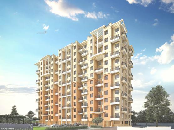 790 sqft, 2 bhk Apartment in Nyati Elan South East I Wagholi, Pune at Rs. 42.1972 Lacs